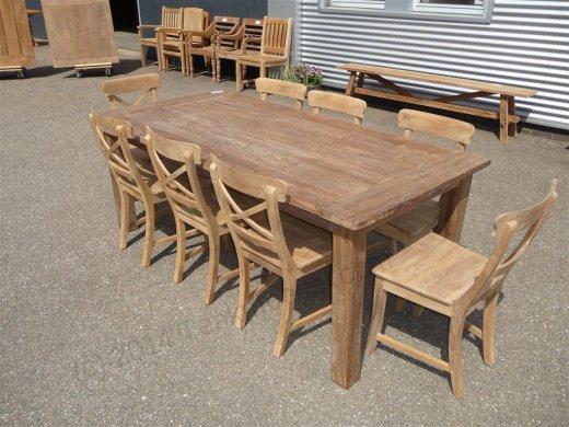 Teak Tisch aus altem Holz 200 x 100 cm - Bild 15