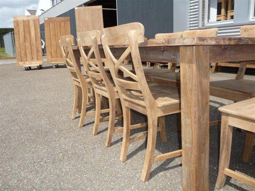 Teak Tisch aus altem Holz 200 x 100 cm - Bild 14