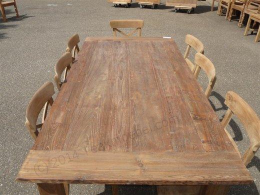 Teak Tisch aus altem Holz 200 x 100 cm - Bild 12