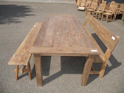 Teak Tisch altes Holz 240 x 100 cm - Bild 5
