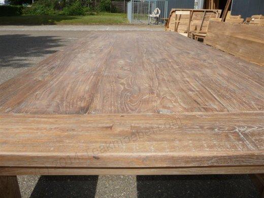Teak Tisch altes Holz 240 x 100 cm - Bild 3