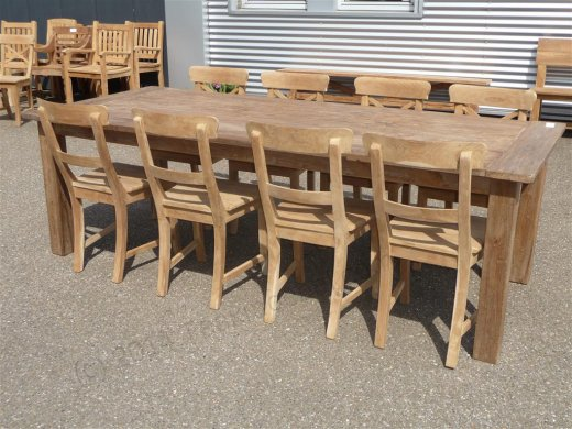 Teak Tisch altes Holz 240 x 100 cm - Bild 8