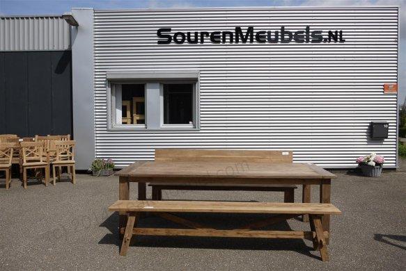 Teak Tisch altes Holz 240 x 100 cm - Bild 10