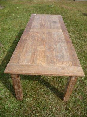 Teak Tisch altes Holz 260 x 100 cm - Bild 2