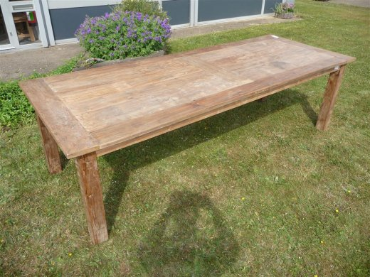 Teak Tisch altes Holz 260 x 100 cm - Bild 10