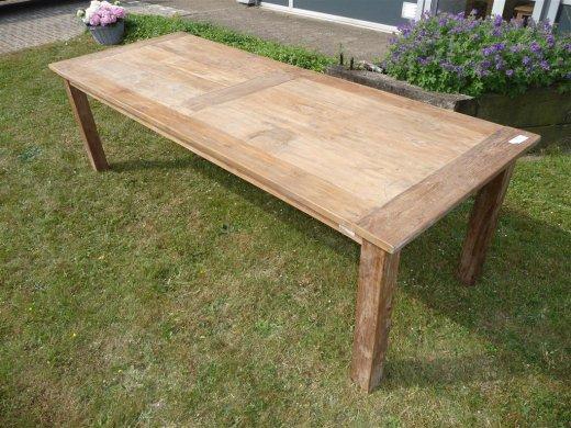 Teak Tisch altes Holz 260 x 100 cm - Bild 6