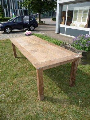 Teak Tisch altes Holz 260 x 100 cm - Bild 3