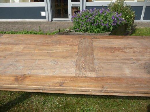 Teak Tisch altes Holz 260 x 100 cm - Bild 4