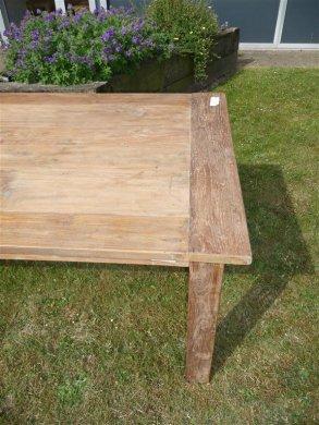 Teak Tisch altes Holz 260 x 100 cm - Bild 5