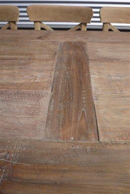Teak Tisch altes Holz 280 x 100 cm - Bild 4
