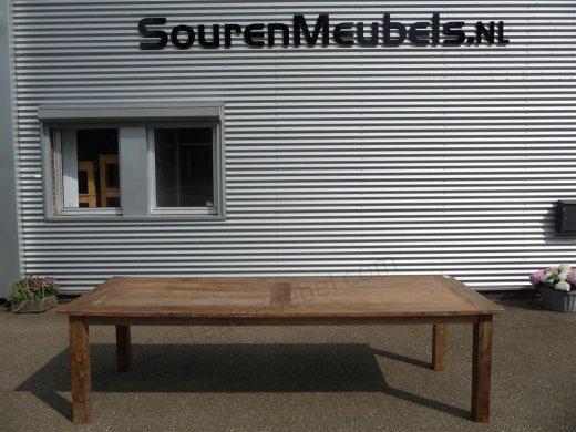 Teak Tisch altes Holz 280 x 100 cm - Bild 3