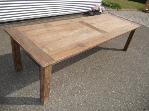 Teak Tisch altes Holz 280 x 100 cm - Bild 6