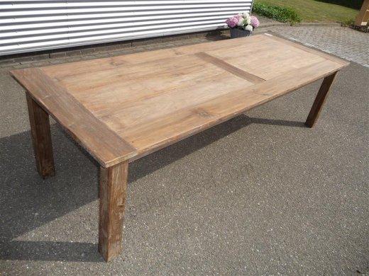 Teak Tisch altes Holz 280 x 100 cm - Bild 13