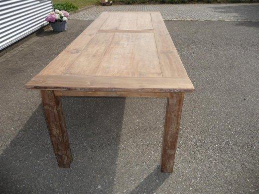 Teak Tisch altes Holz 280 x 100 cm - Bild 7