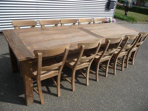 Teak Tisch altes Holz 280 x 100 cm - Bild 9