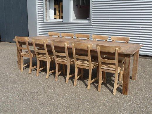 Teak Tisch altes Holz 280 x 100 cm - Bild 10
