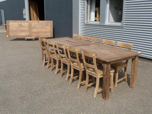 Teak Tisch altes Holz 280 x 100 cm - Bild 11