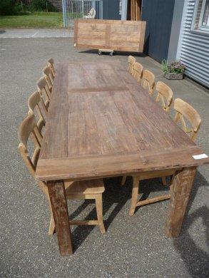 Teak Tisch altes Holz 280 x 100 cm - Bild 2