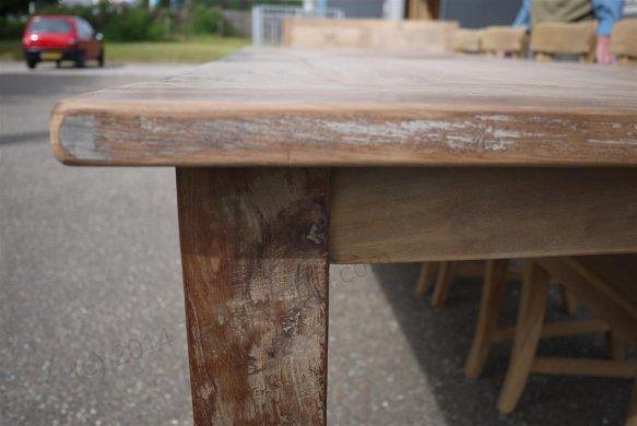 Teak Tisch altes Holz 280 x 100 cm - Bild 5