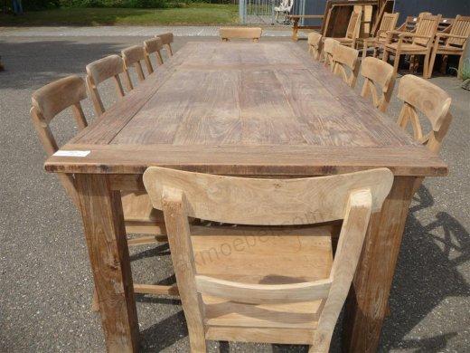 Teak Tisch altes Holz 300 x 100 cm - Bild 9