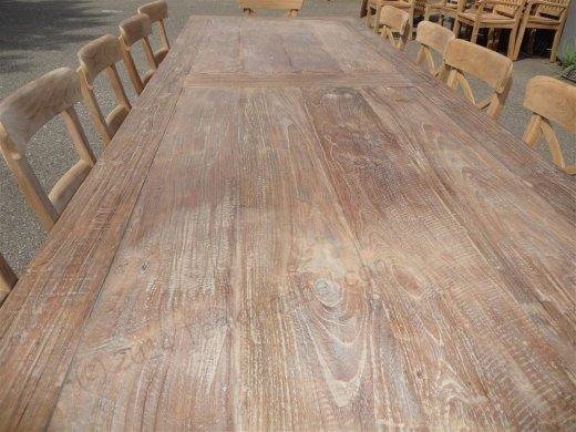 Teak Tisch altes Holz 300 x 100 cm - Bild 11