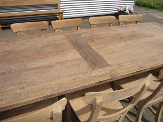Teak Tisch altes Holz 300 x 100 cm - Bild 10