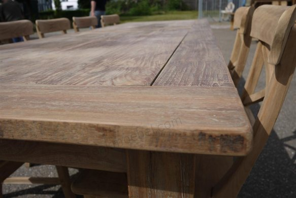 Teak Tisch altes Holz 300 x 100 cm - Bild 12