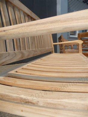 Teak Holz Gartenbank  180 cm Beaufort - Bild 9