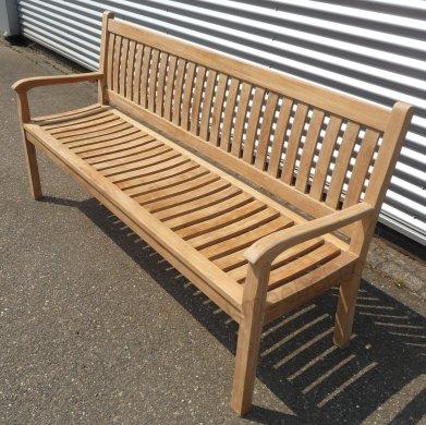 Teak Holz Gartenbank  180 cm Beaufort - Bild 3
