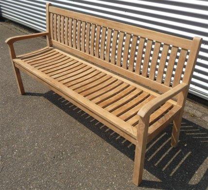 Teak Holz Gartenbank  180 cm Beaufort - Bild 7