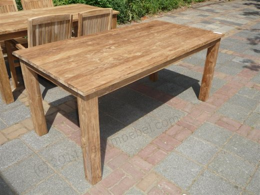 Teak Tisch gebürstet 180 x 90 cm - Bild 0