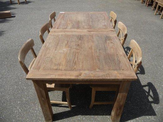 Teak Tisch altes Holz 200 - 250 - 300 x 100 cm ausziehbar - Bild 0