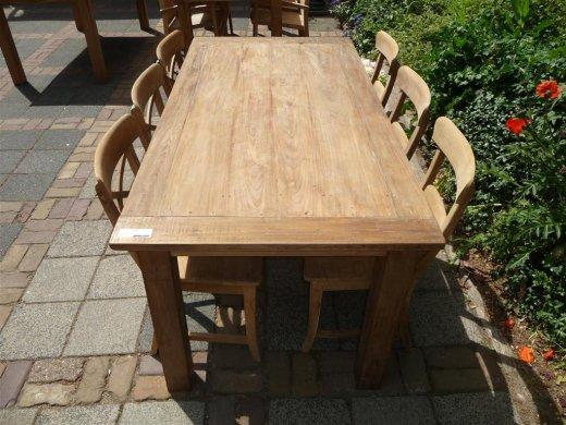 Teak Tisch aus altem Holz 180 x 90 cm - Bild 0