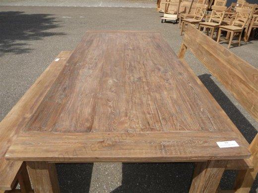 Teak Tisch altes Holz 240 x 100 cm - Bild 2