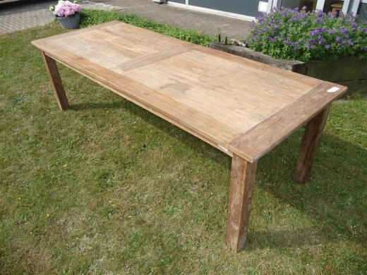 Teak Tisch altes Holz 260 x 100 cm - Bild 1