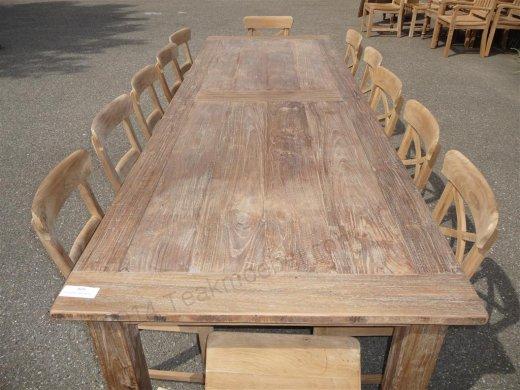 Teak Tisch altes Holz 300 x 100 cm - Bild 8