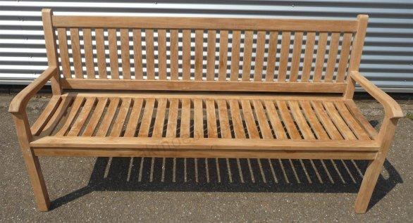Teak Holz Gartenbank  180 cm Beaufort - Bild 2