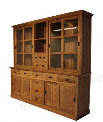 Teak Ladenschrank 245x45-55x225cm mit Leisten - Bild 0