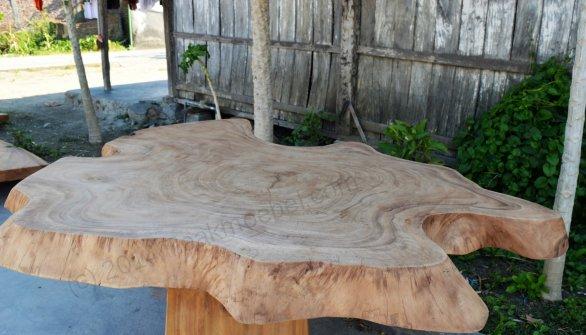 Suar Baumstamm Tisch 180 x 150 - Bild 1