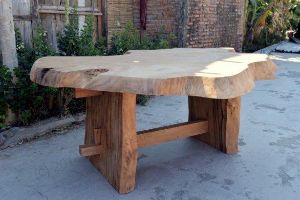 Suar Baumstamm Tisch 180 x 150 - Bild 2