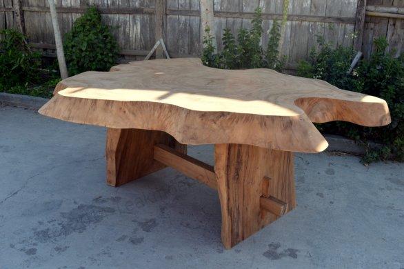 Suar Baumstamm Tisch 180 x 150 - Bild 3