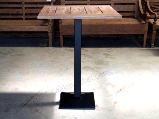Teakholz Bistro Stehtisch 80x70cm - Bild 0
