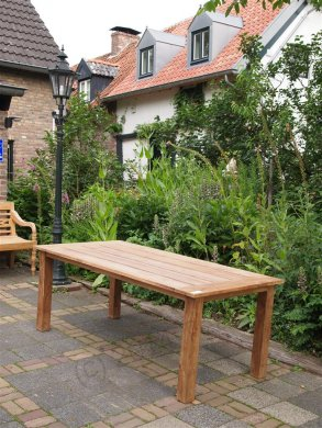 Teak Gartentisch 200x100cm + Teak Gartenbank 160cm - Bild 6