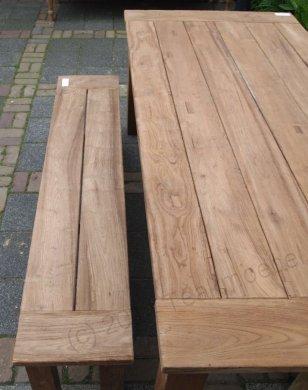 Teak Gartentisch 200x100cm + Teak Gartenbank 160cm - Bild 7