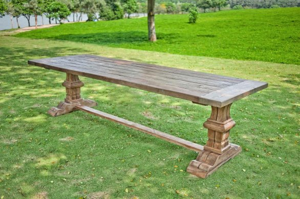 Outdoor Teak Klostertisch 250x100 - Bild 0