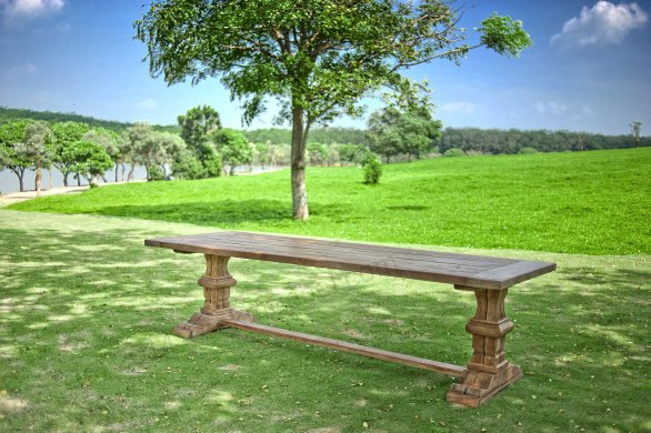 Outdoor Teak Klostertisch 250x100 - Bild 1