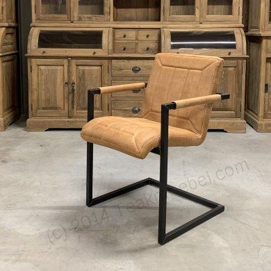 Leder Stuhl Cognac - Bild 0