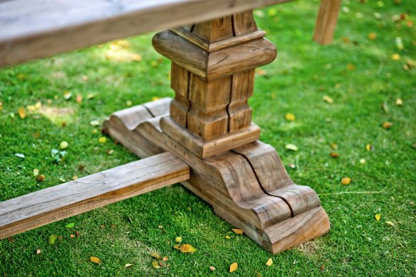 Outdoor Teak Klostertisch 250x100 - Bild 2