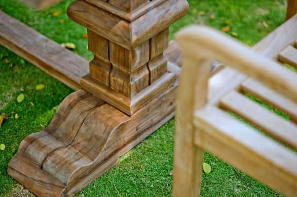 Outdoor Teak Klostertisch 200x100 - Bild 3