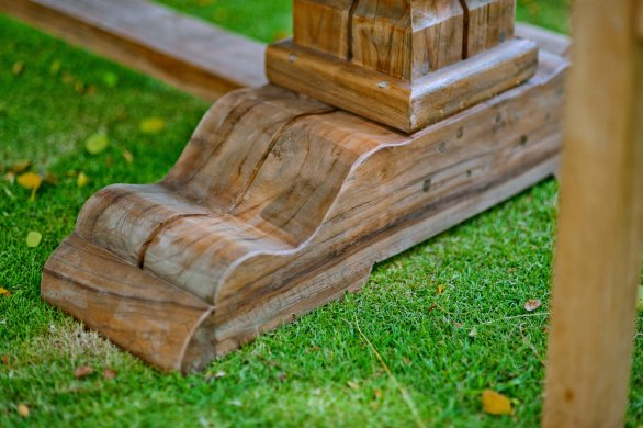 Outdoor Teak Klostertisch 250x100 - Bild 5